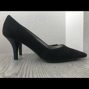 Brand New Anne Klein suede black heels